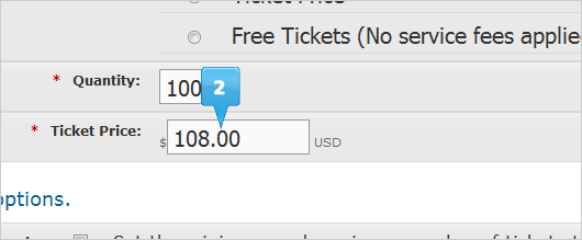 adjusted ticket price