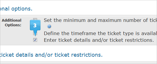 ticket restrictions and details
