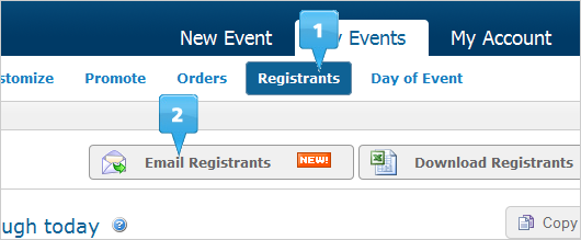 email registrants