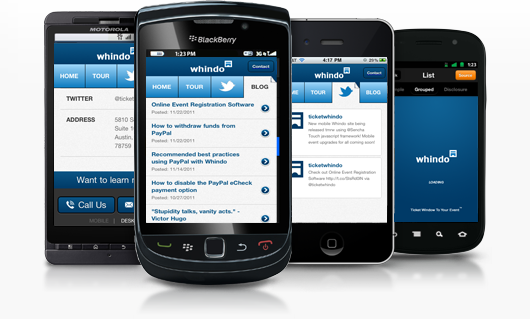 Whindo Mobile Site